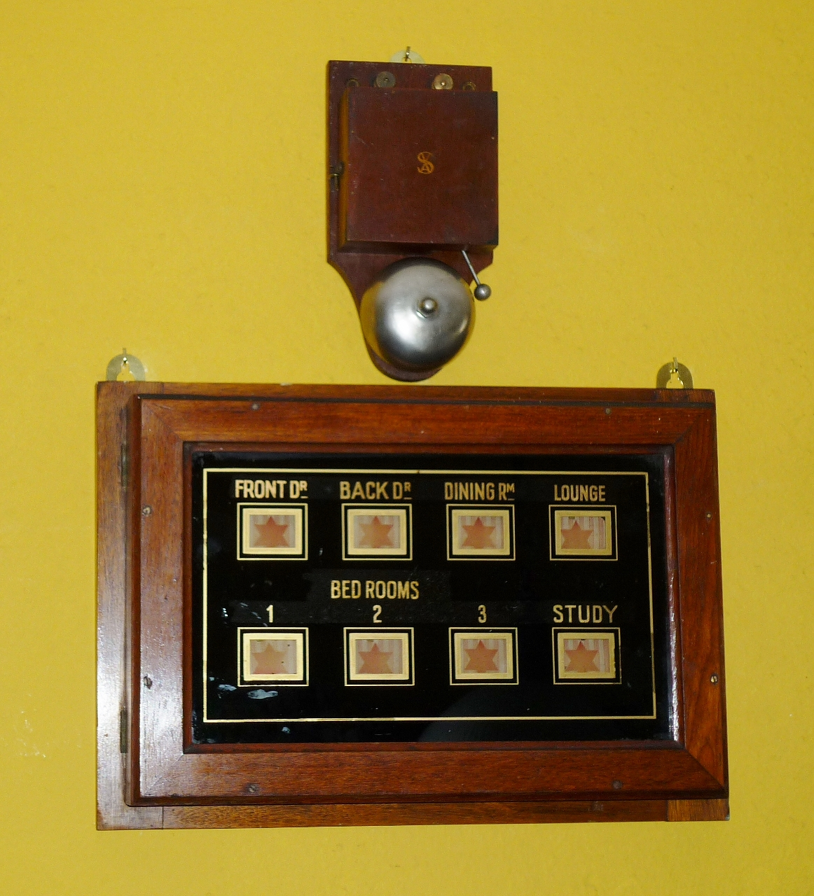 Antique Butlers Bell Box - Manor House ©BARON of NORTH CADBURY