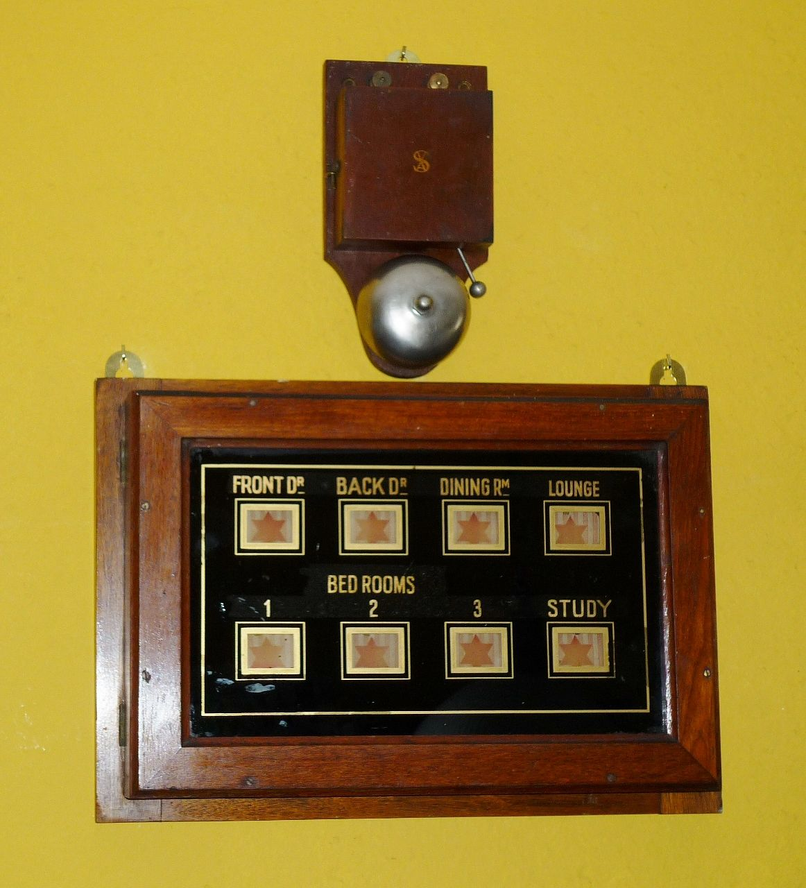 Antique Butlers Bell Box - Manor House