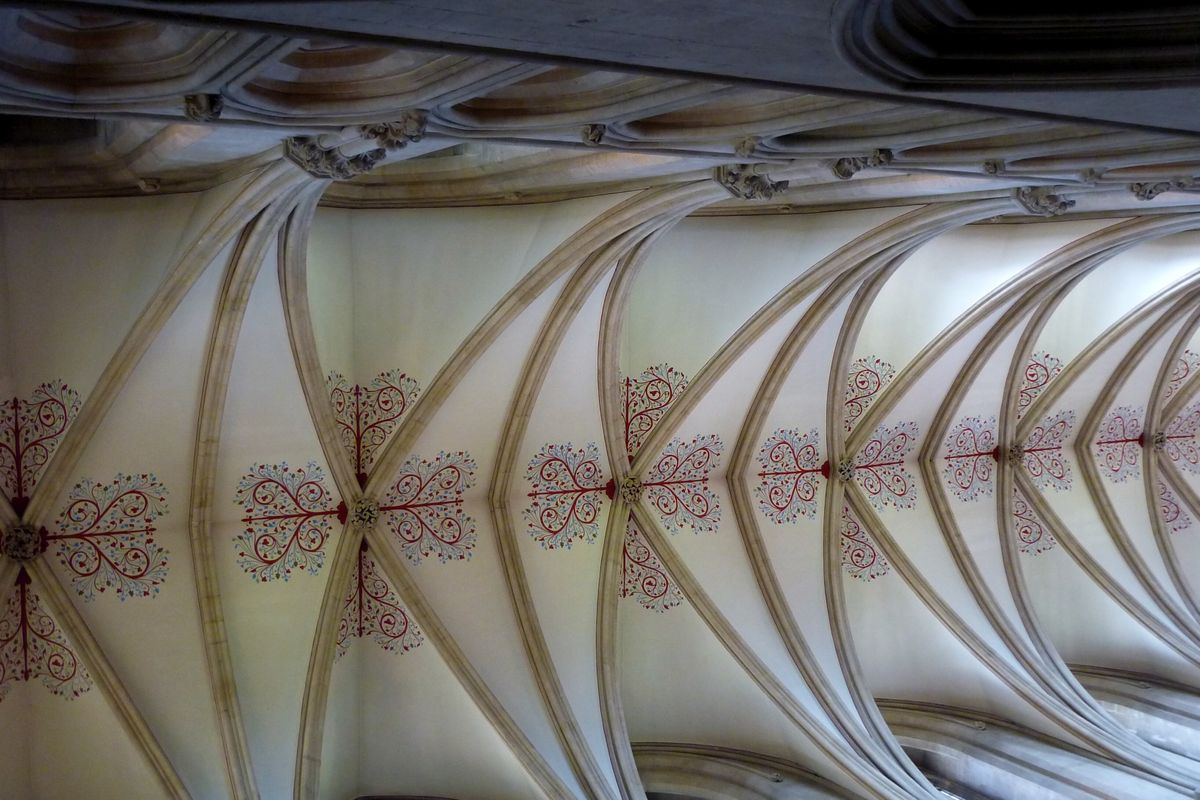 Wells Cathedral nave ceiling